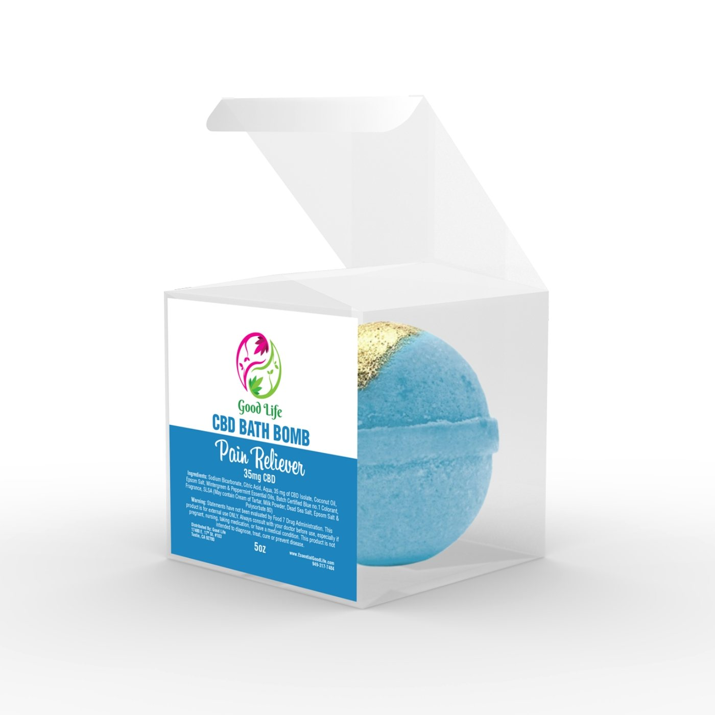 Pain Reliever CBD oil Bath Bomb