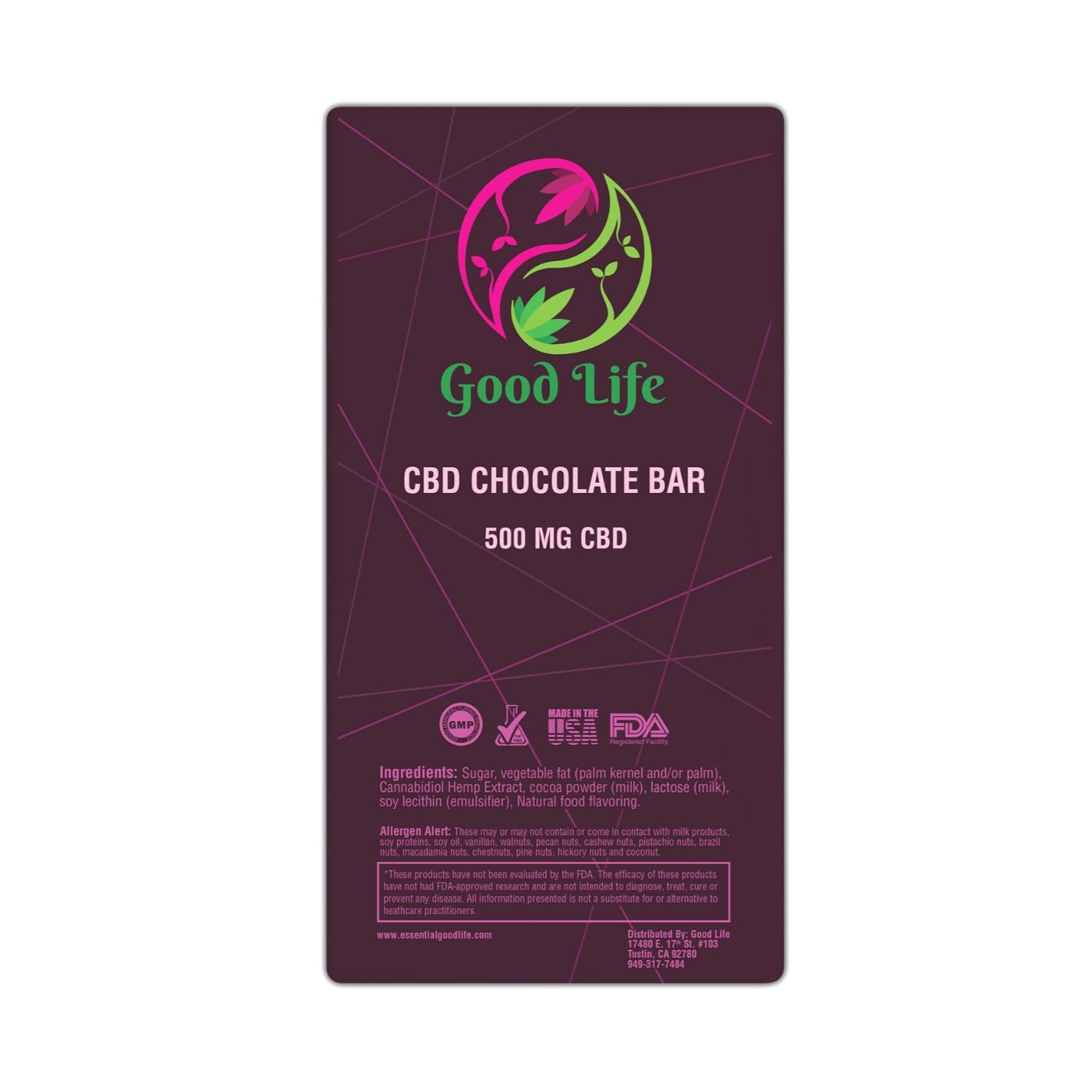 CBD Chocolate Bar 500mg